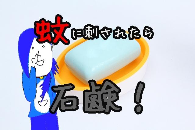 蚊に刺されたらムヒ塗る前に石鹸塗っとけばかゆみおさまるよ。