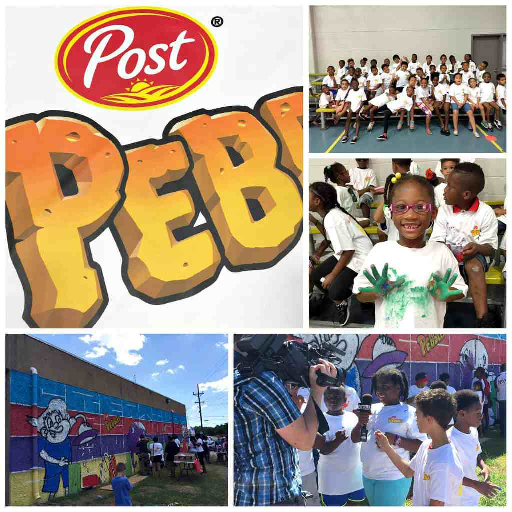 Post Pebbles partners with BGCD and local artist to bring joy & creativity to urban Dallas