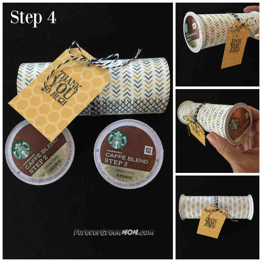 Recyclable K-Cup®Pods Party Thank You Favors step-4