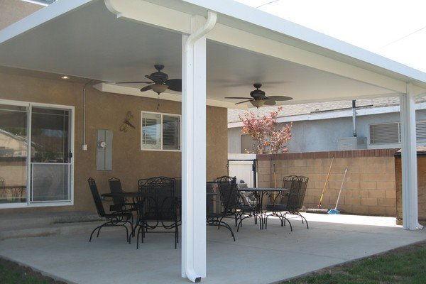 Dublin Solid Panel Patio Cover With Standard Square Posts