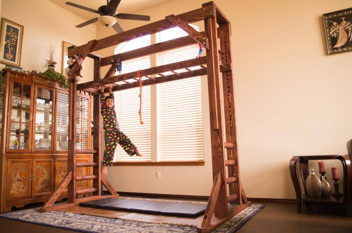 Monkey Bar Sheldon S Monkey Bar Set Forever Redwood
