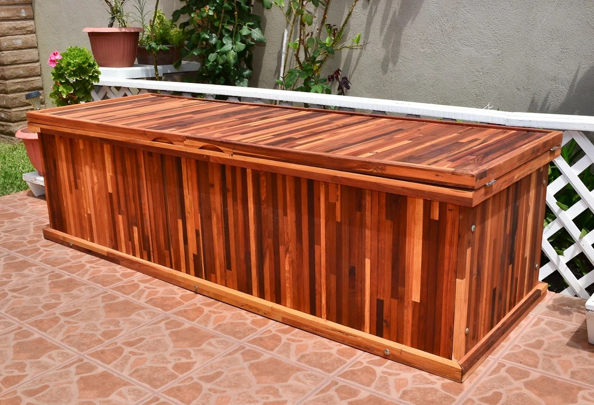 Wooden Storage Bench Wooden Storage Bench Forever Redwood