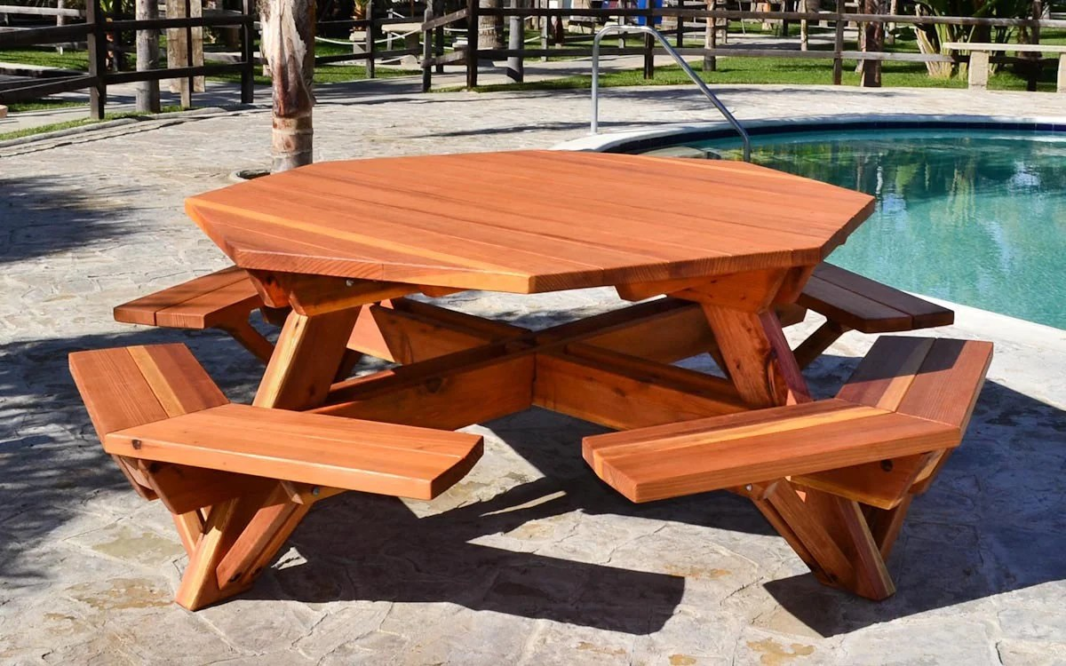 Table Octogonale De Jardin Octagonal Picnic Tables