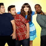 NEW GIRL:  The new comedy starring Zooey Deschanel as an adorkable girl who moves in with three single guys, changing their lives in unexpected ways, premieres Tuesday, Sept. 20 (9:00-9:30 PM ET/PT) on FOX.   (Pictured L-R:  Max Greenfield, Jake Johnson, Zooey Deschanel and Lamorne Morris). ©2011 Fox Broadcasting Co. Cr: Autumn DeWilde/FOX