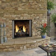 carolina outdoor gas fireplace - Forge Distribution