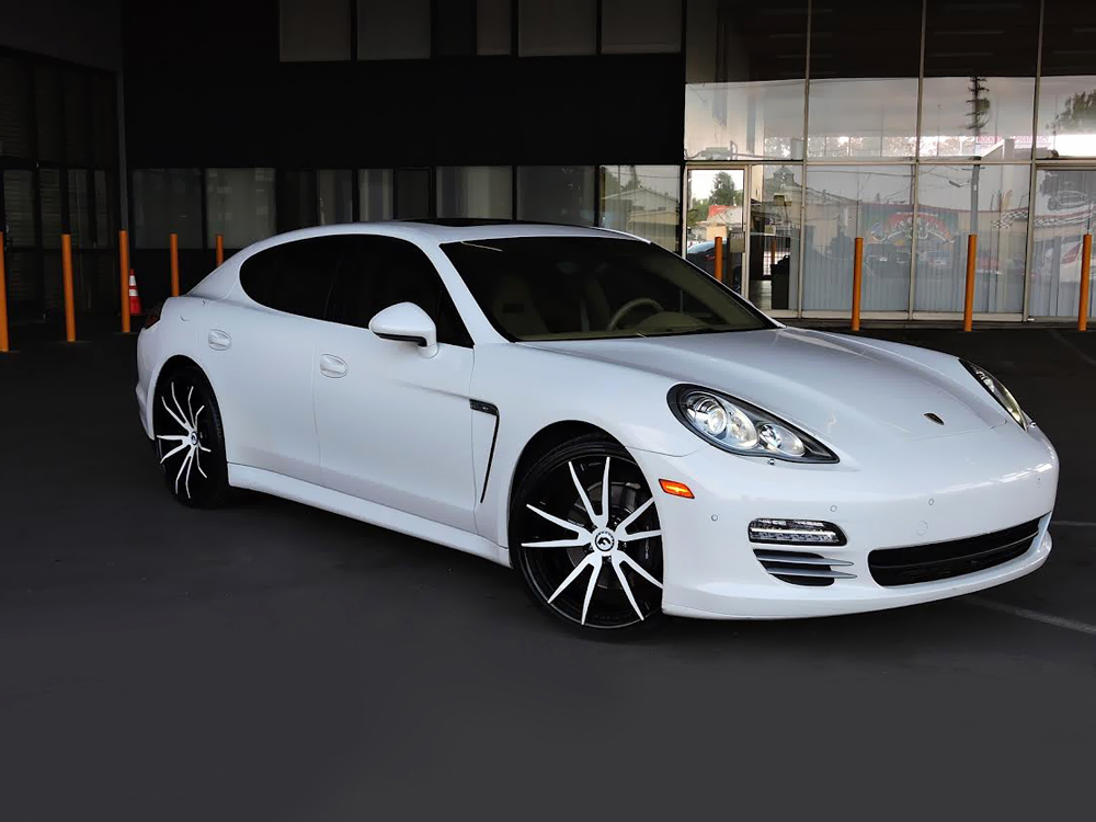 white porsche panamera on forgiato wheels
