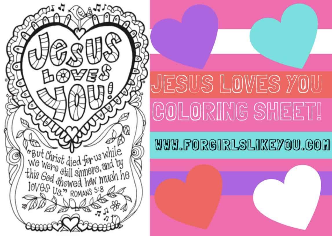Jesus Loves You Coloring Page - Democraciaejustica