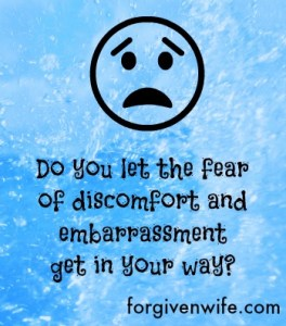 Does the fear of discomfort and embarrassment get in the way of getting help?