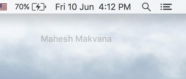 Cara Hapus Nama Anda dari Menu Bar di Mac
