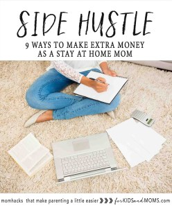 Make money from home Side Hustle Ways to Earn Extra Money for Stay at Home Moms