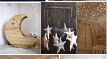 Baby Room Nursery Design Inspiration Moon and Stars Theme Unisex