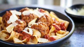 Ribbon Pasta Ragu with Meatballs Recipe Dinner Ideas