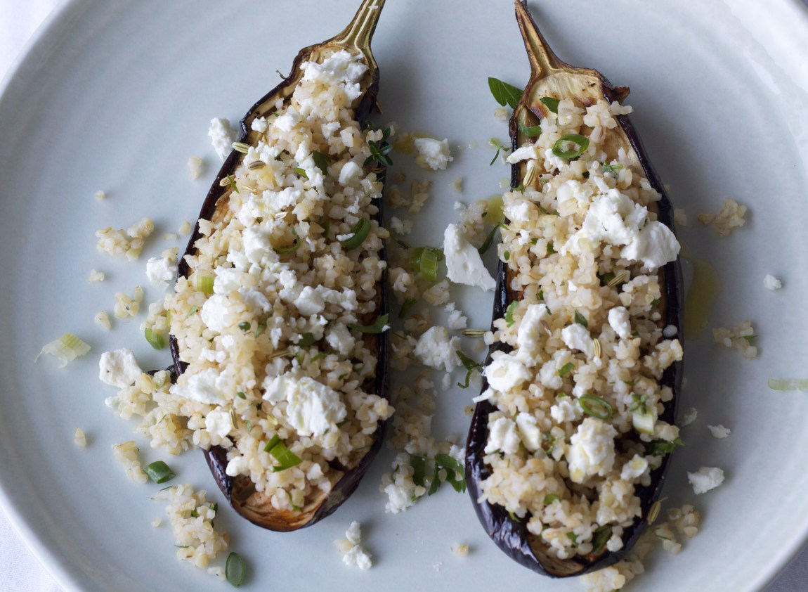Eggplant and Bulgur