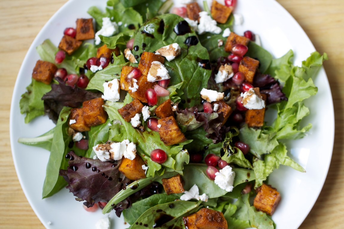 Butternut Squash, Pomegranate, Goat Cheese