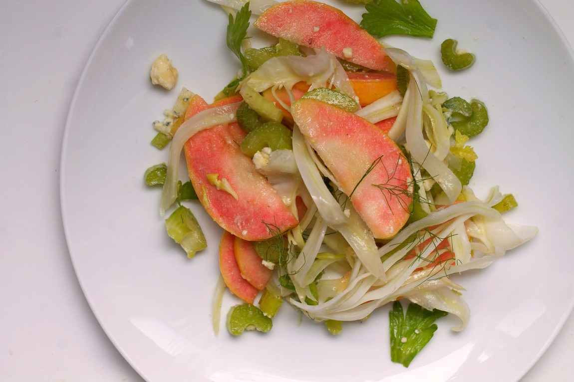 Pink Pearl Apple, Fennel and Celery Salad