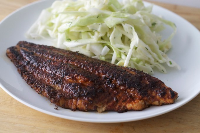 Blackened Catfish and Joe's Slaw