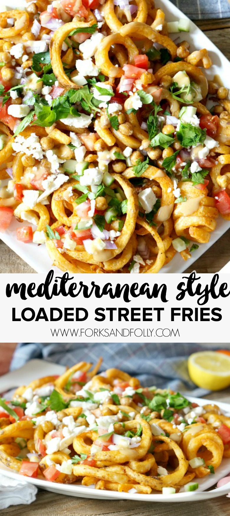 Mediterrane Küche An Bord Mediterranean Style Loaded Street Fries Forks And Folly