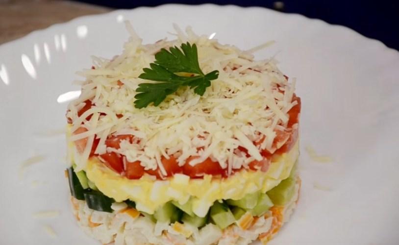 Салат из крабовых палочек и капустой рецепт с очень вкусный