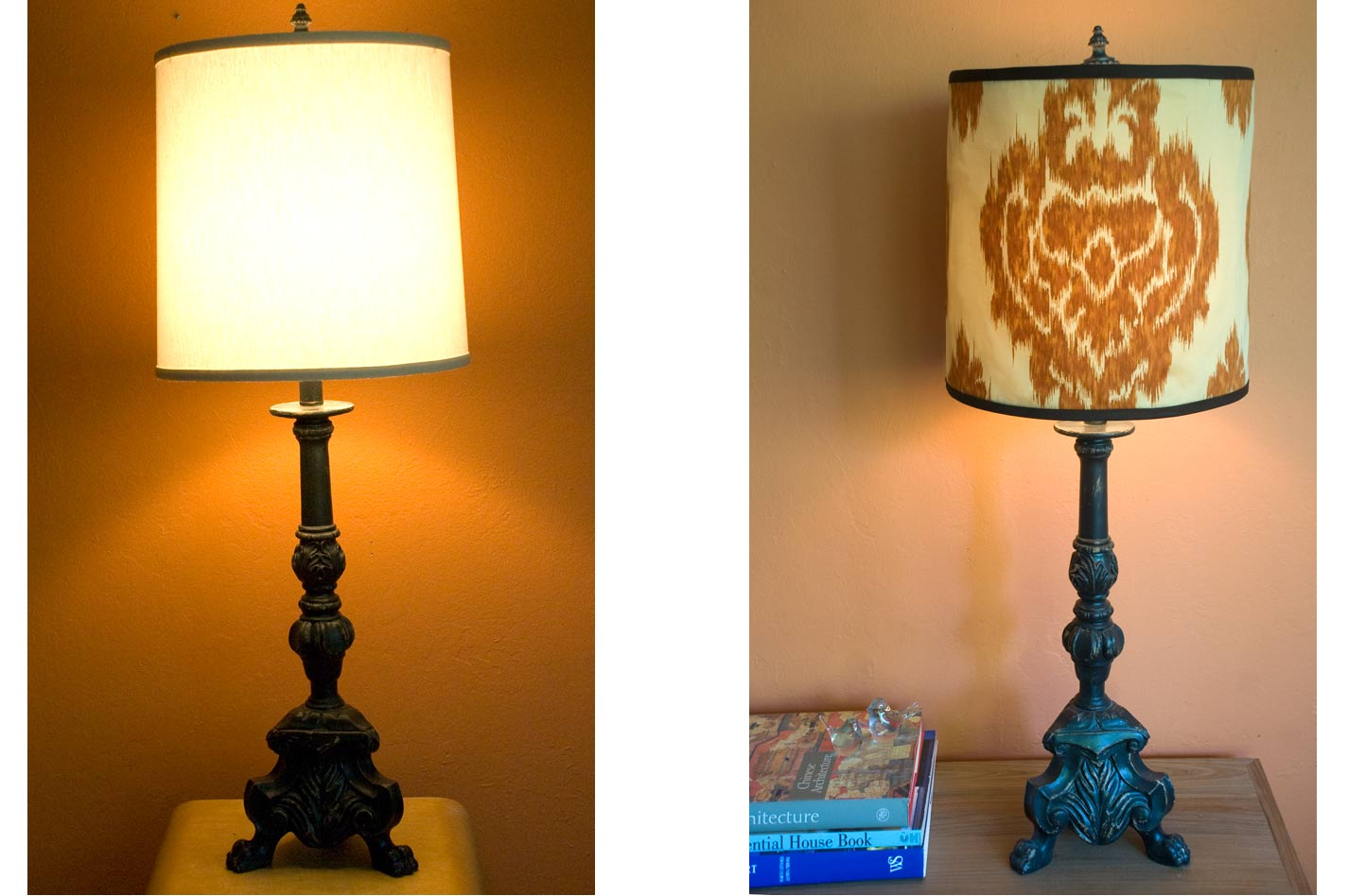 Diy Lampshade Cover Diy Salvage Making A Lamp Shade Cover Forma Living