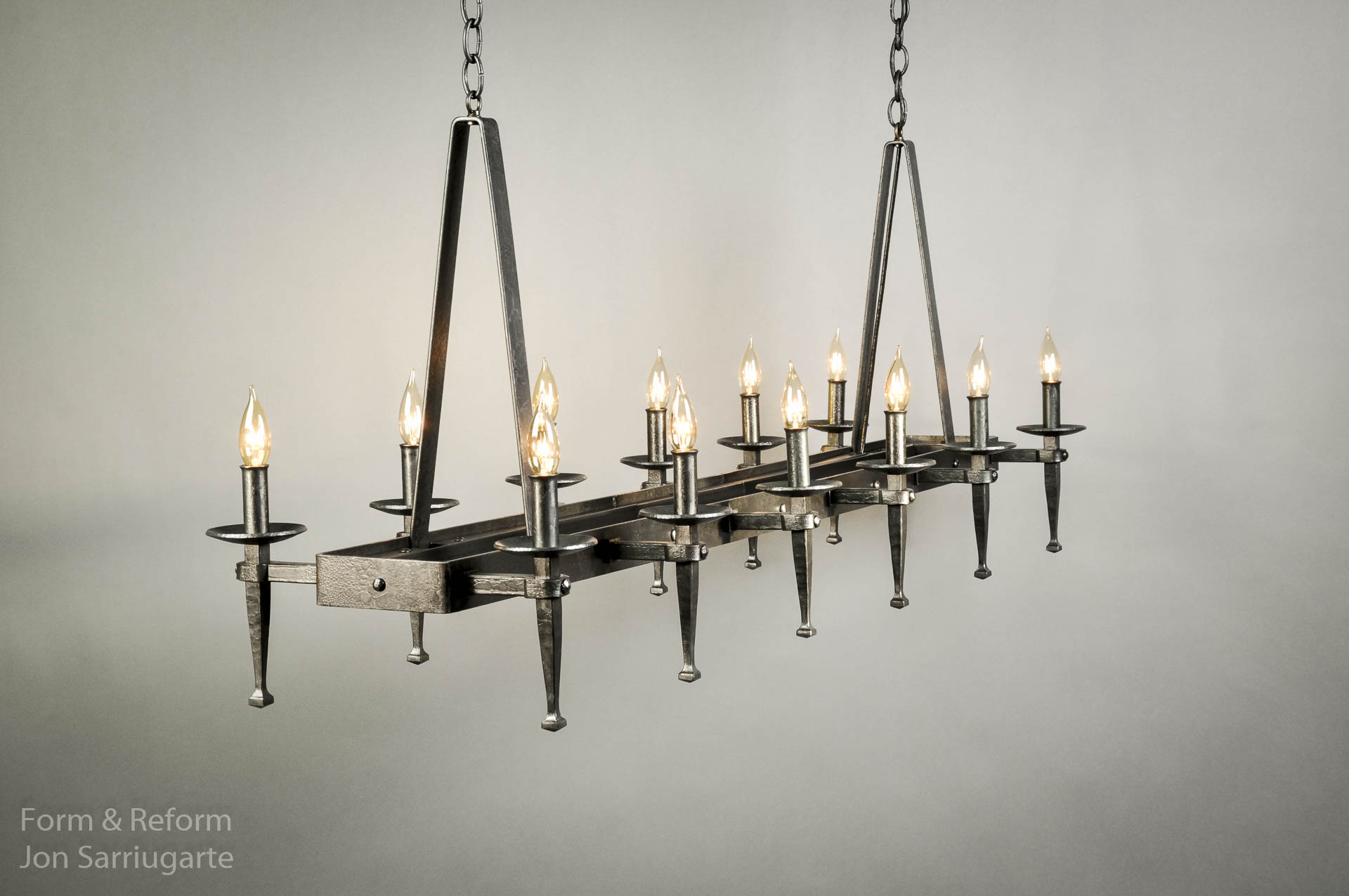 Spanish Chandelier Spanish Delgado Rectangular Chandelier Form Reform