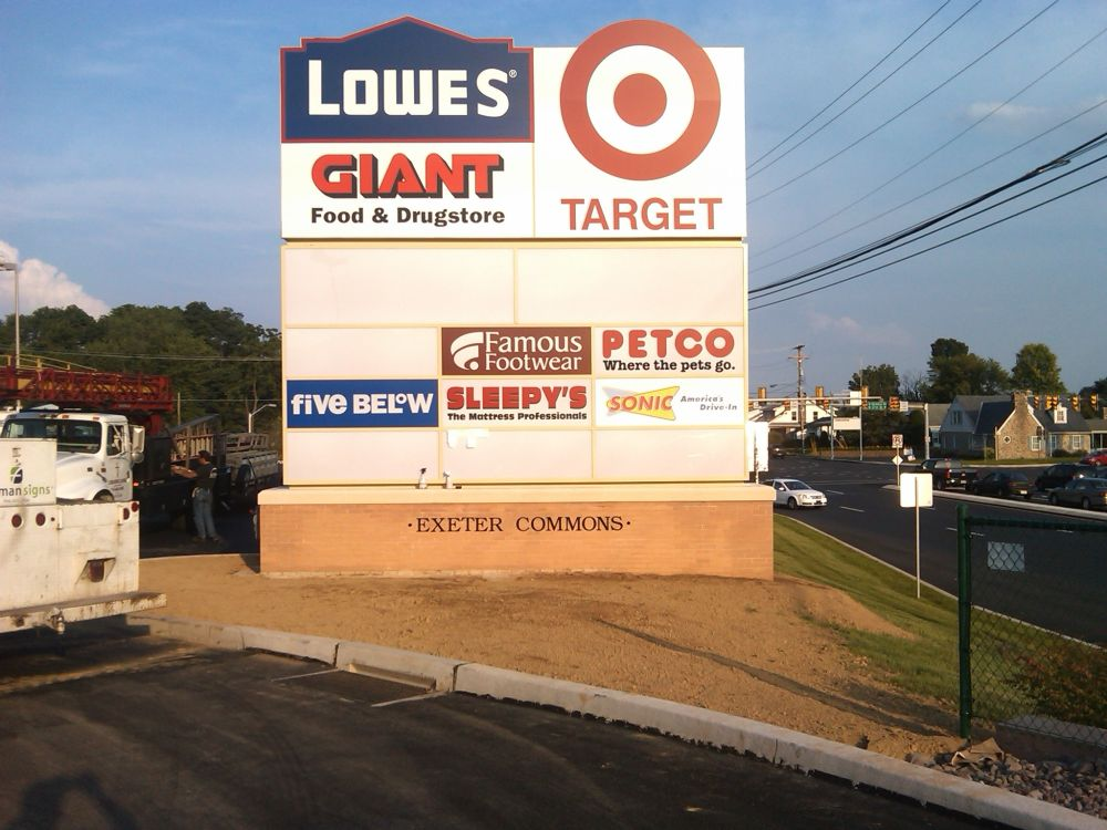 Lowes Awnings Multi-tenant Pylon & Shopping Center Signs | Forman Signs