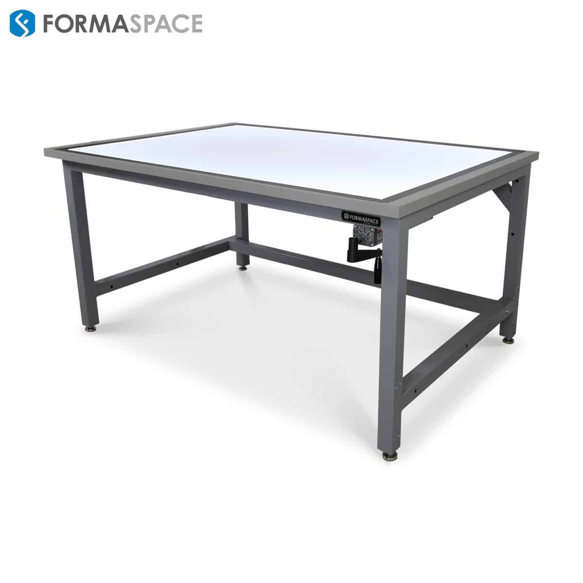 Adjustable Height Drafting Table Height Adjustable Drafting Table With Lighted Surface Formaspace