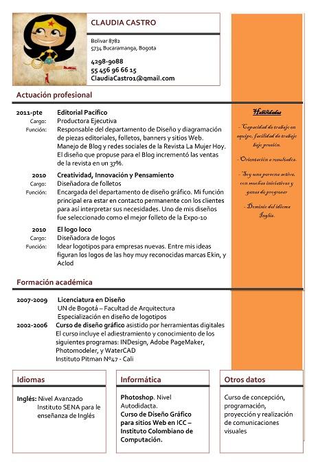 Curriculum Vitae Formato Funcional Ejemplo   Resume Pdf Download
