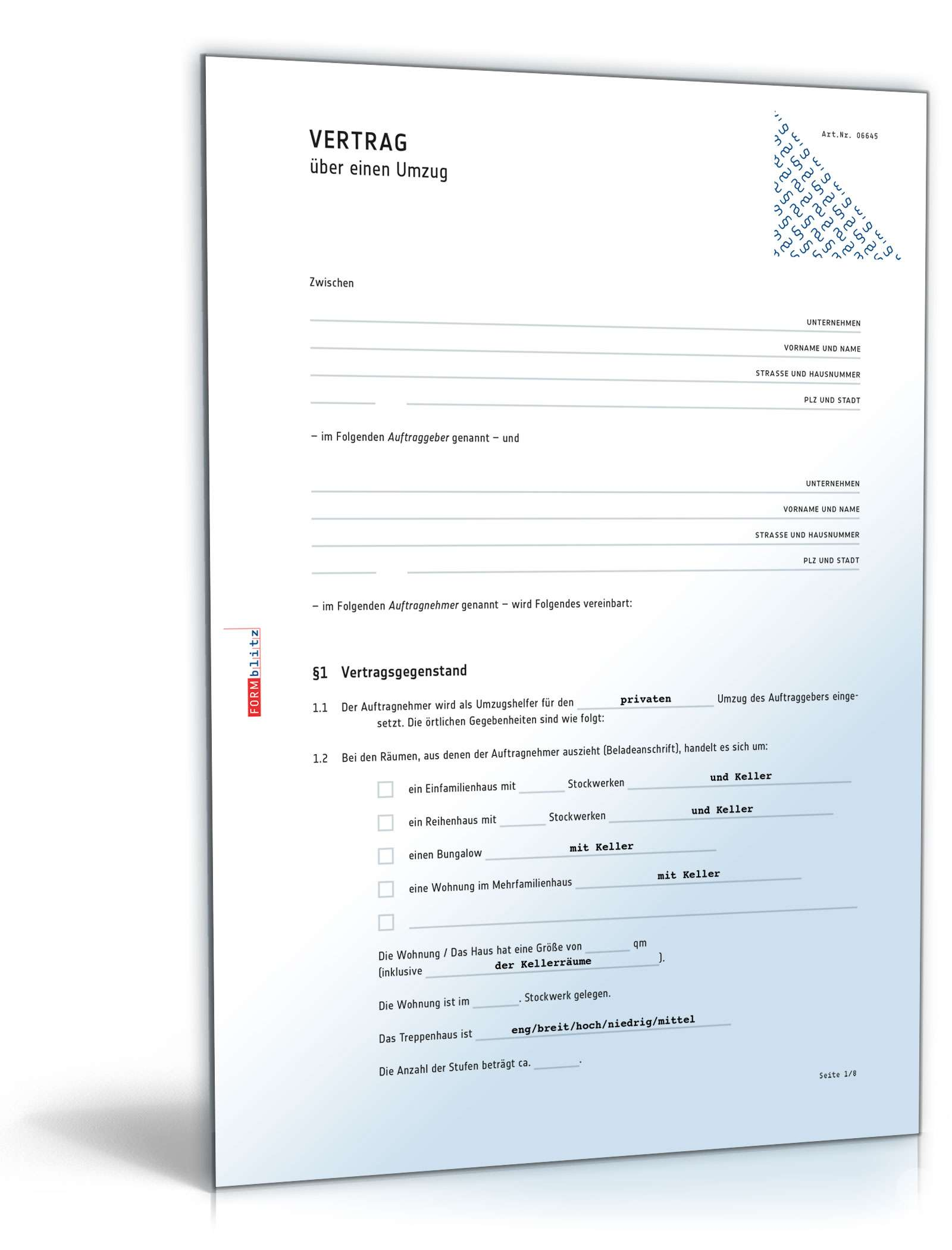Mietvertrag Küche Muster Umzugsvertrag Muster Zum Download Als Word And Pdf