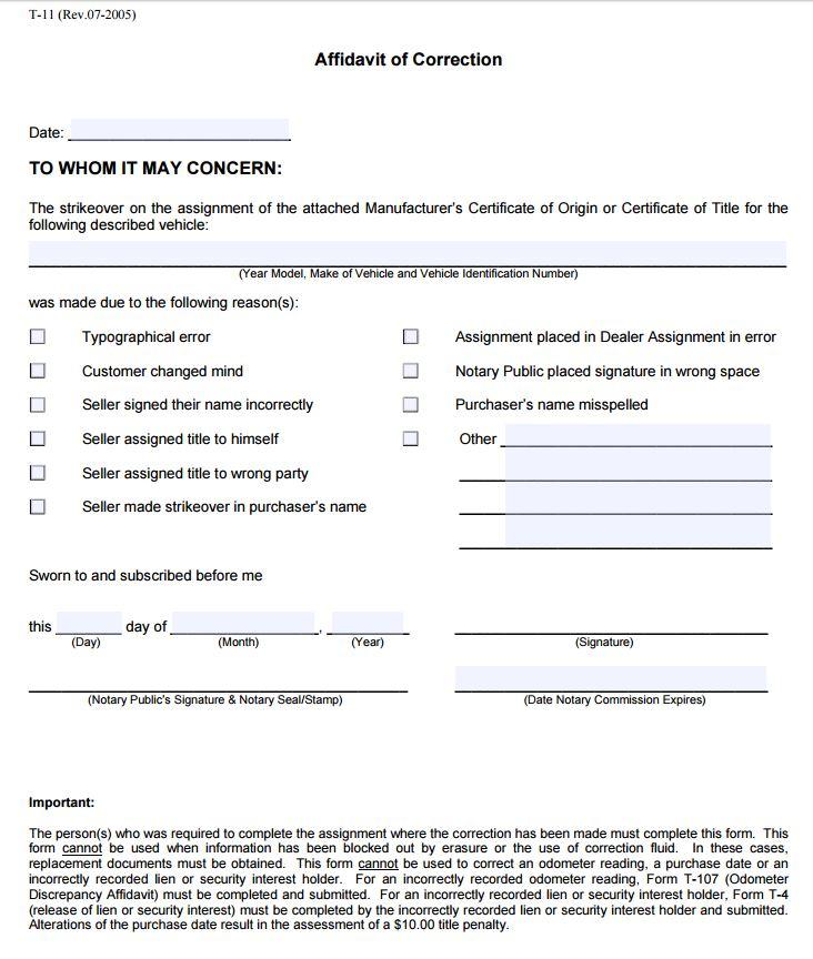 free blank affidavit form - Erkaljonathandedecker