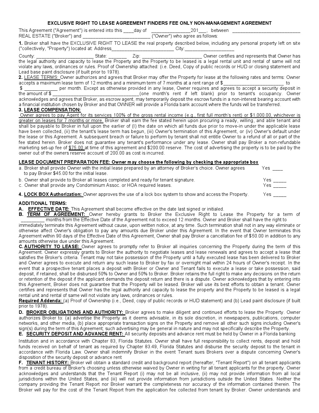 free rental agreement template pdf