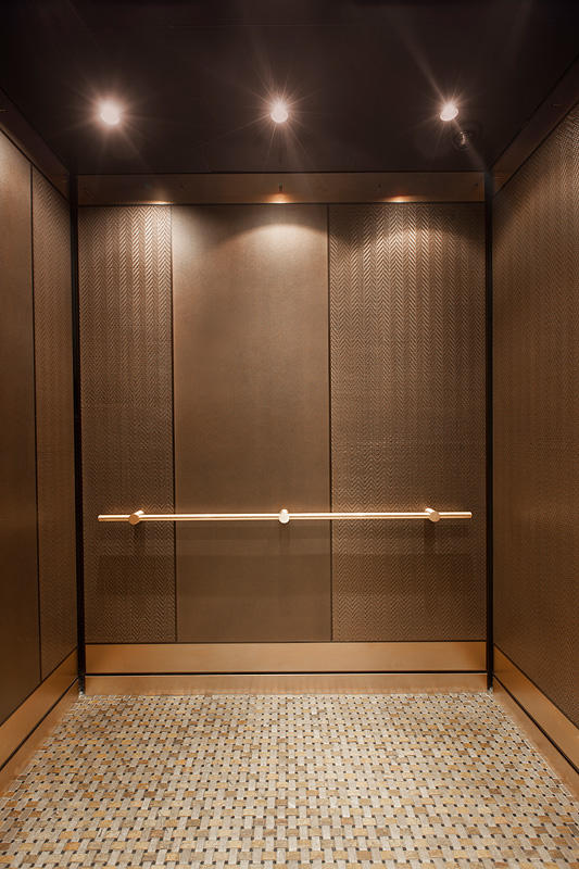 Round Wood Mirror Levele-101 Elevator Interiors | Architectural | Forms+surfaces