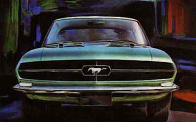 Ford Mustang sketch by Giorgetto Giugiaro. Bertone, 1965