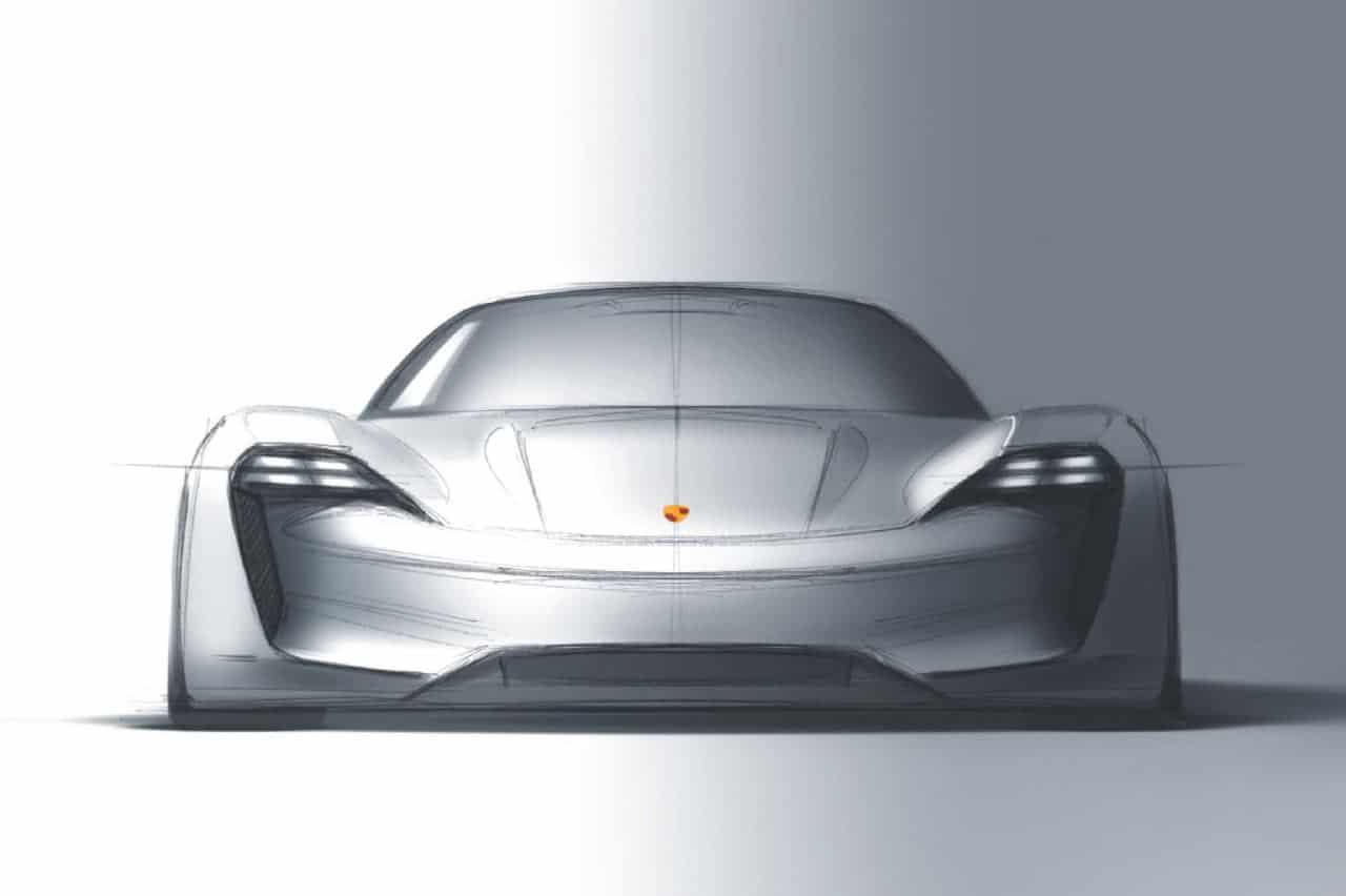 3d Bugatti Car Wallpaper Porsche Mission E Concept Showcases Brand S Electric Intent