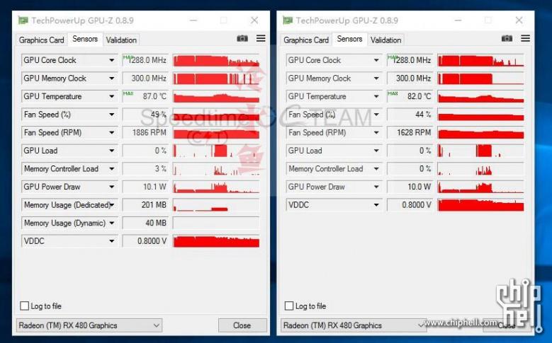 AMD Radeon RX 480 CrossFire GPUZ