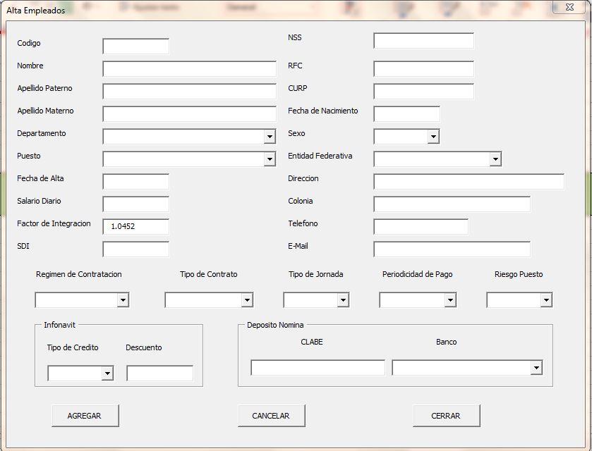 Nomina en excel \u2013 Formulas Excel