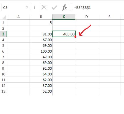 doble click para copiar formula