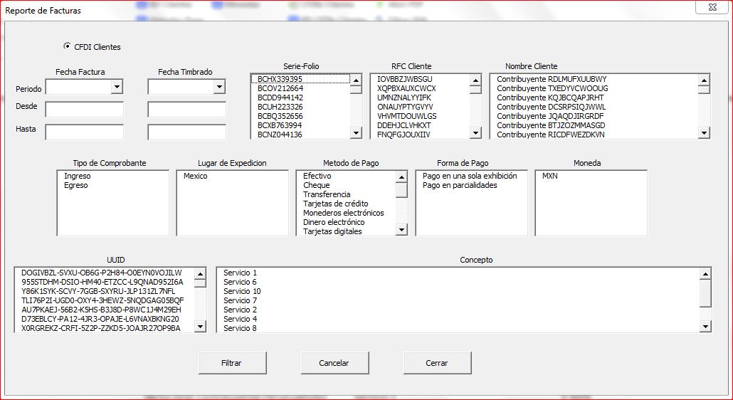 Reportes CFDI CobranzaFX 4.0