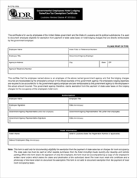 Tax Exemption Form - Templates