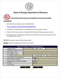 Form 500-ES Fillable estimated taxes for individuals and ...