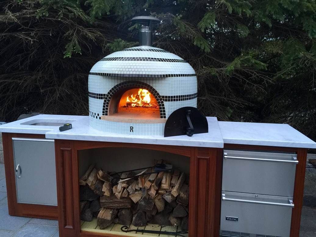 Pizzastand Oven Custom Napolino And Vesuvio Pizza Ovens Forno Bravo Authentic