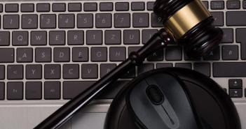 Mallet on computer keyboard