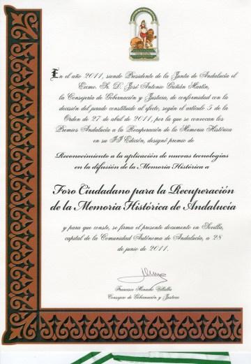 Diploma Junta de Andalucia