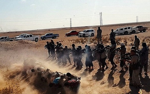 jihadistas fusilando