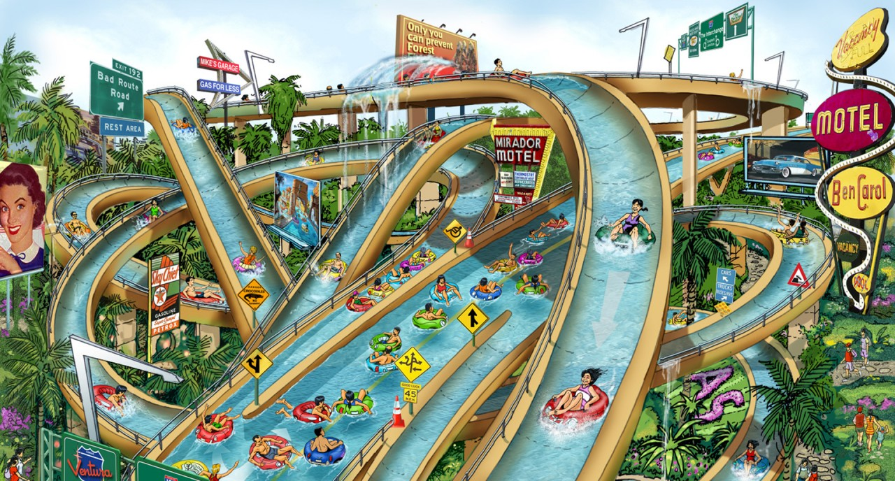 Парк мира Lotte World Kimhae Water Park Forrec
