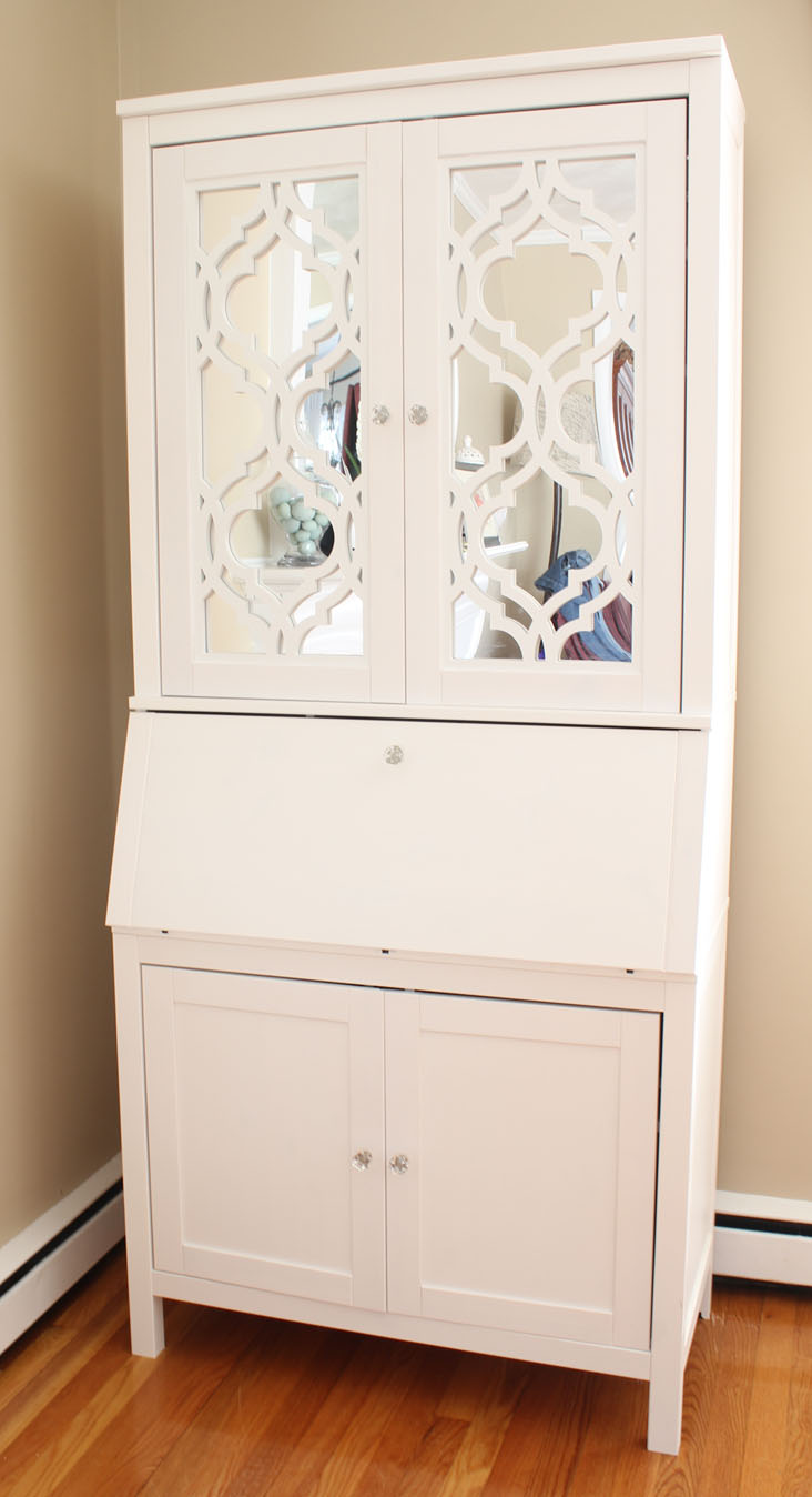 Ikea Food Storage Diy Secretary Desk For A Small Space