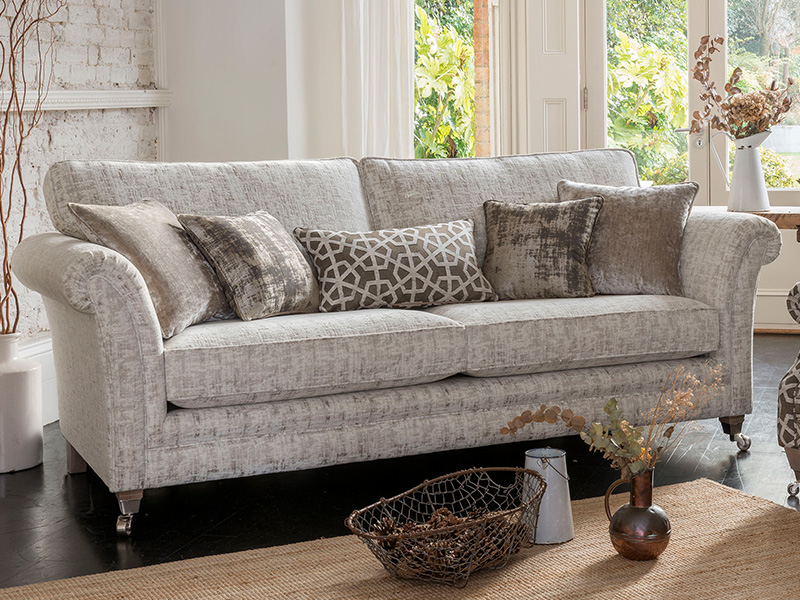 Small Sofa With High Back Lowry Grand Sofa Priced In F Grade Fabric Furniture