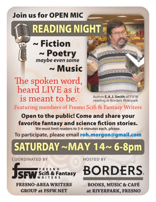 FSFW Flyer - Open Mike Night at Borders 2011-05-14