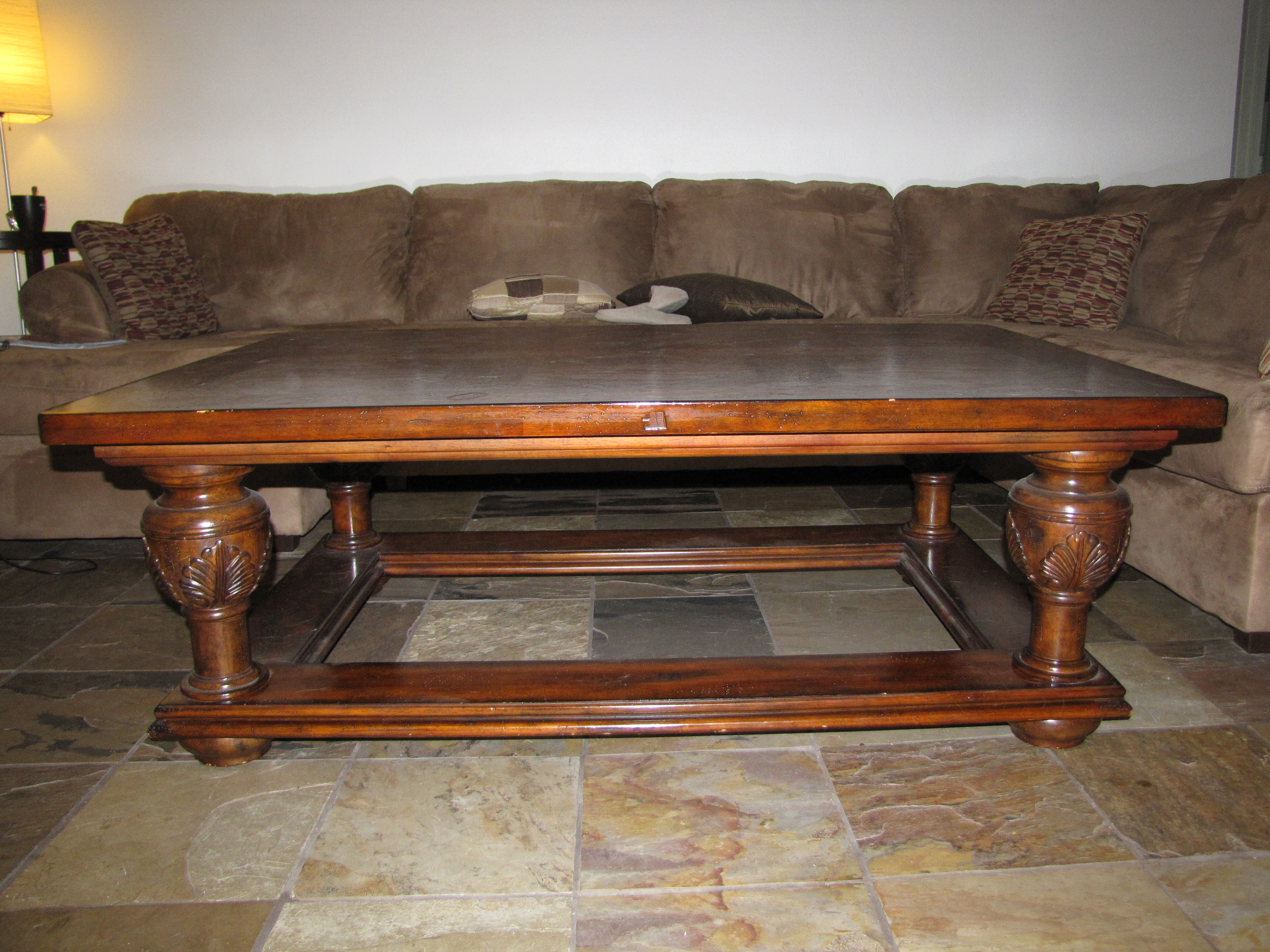 Couchtisch Dunkel Large Wood Coffee Table | Forsaleinscottsdale