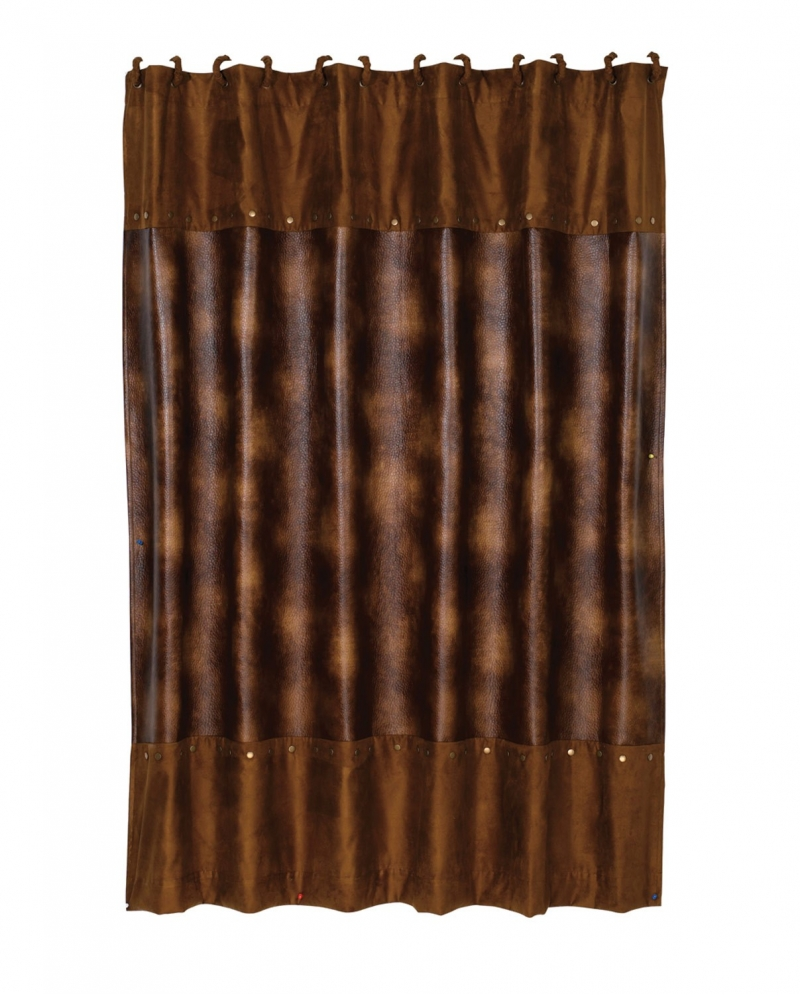 Cheap Rustic Shower Curtains Rustic Faux Leather Shower Curtain