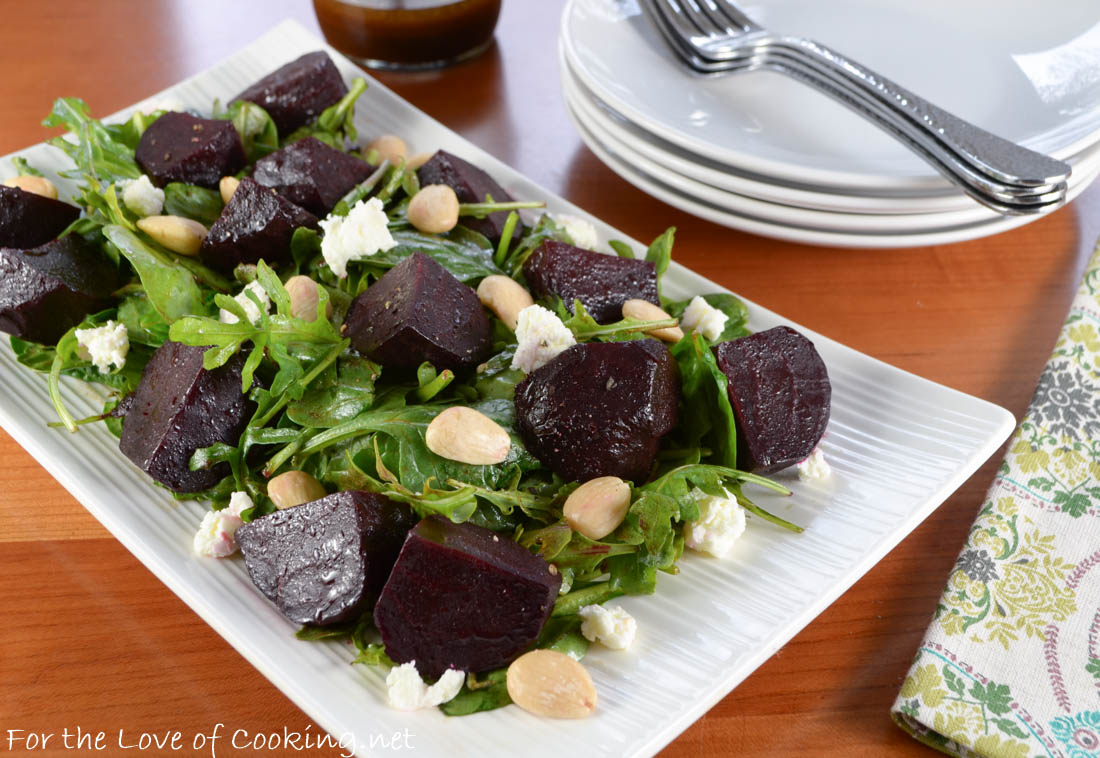 Balsamic Roasted Beet Salad For The Love Of Cooking